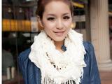 流苏脖套 韩国秋冬天女士围巾毛线围脖 保暖针织套头 围脖口袋