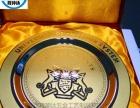 厂家专业定制金属奖牌纪念盘玫瑰金纪念盘订做质量保证
