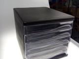 新款文件收纳盒五层办公用品收纳透明塑料抽屉柜桌面A4纸资料柜