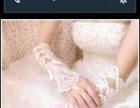 个人婚纱长拖尾全套手套,裙撑头纱还有个敬酒服出售