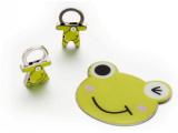 HOLI动物形不碎镜钥匙扣套装HL050-04 金属化妆镜 手柄