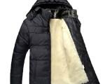 厂家直销 爸爸装 男士冬季保暖加绒加厚中老人棉衣爸爸装大衣外套