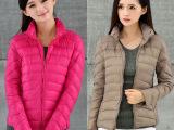 厂家直销女式羽绒服 韩版修身羽绒棉服女士 外贸原单女装棉衣外套