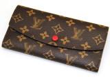 L新款女士钱包 女士长款真皮钱包手拿包老花钱包一件代发M6013