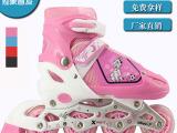 正品PU全闪儿童直排轮滑速滑溜冰鞋 厂家直销成人旱冰鞋低价批发