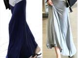 厂家批发外贸女装新款韩版莫代尔半身裙大摆裙松紧腰A字宽松长裙
