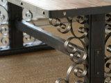 北欧表情美式乡村复古工业风蒙哥马利实木铁艺西餐桌办公桌电脑桌