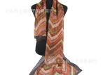 新款 波浪印花丝巾 现货批发 时尚雪纺长丝巾 披肩