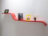 亮光烤漆创意隔板置物架一字弯板搁架 墙上置物搁板雪橇板装饰架