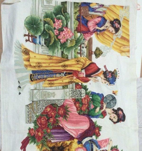 红楼梦十二美女十字绣_广州艺术品/收藏品内裤扒美女图片