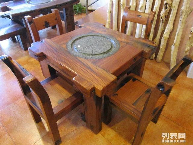 老船木茶桌椅组合古沉船木功夫泡茶几原生态家具户外阳台