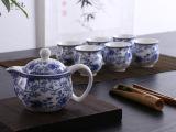 厂家直销 茶具套装特价 7头双层杯茶具套装 陶瓷青花瓷茶具BG-