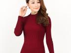 2014年秋冬新款纯色羊毛衫长袖韩版女式修身打底衫半高领套头毛衣