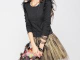 蓬蓬针织连衣裙 女装代理加盟  韩版瑞丽女装代理网上创业