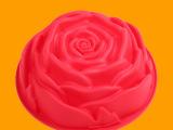 大号玫瑰花型蛋糕硅胶蛋糕模 可进烤箱耐高温家庭硅胶烘焙模具