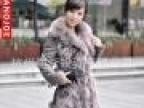 2011冬季真皮加厚狐狸毛中长款皮草外套带