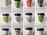 14盎司400ml双PE奶茶杯冷饮杯咖啡纸杯1000支批发带盖包