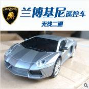 124儿童玩具车 电动无线二通遥控车汽车模型兰博基尼 厂家直销