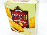 韩国进口零食食品批发 lotte乐天蜂蜜树叶饼干 90g 整箱1
