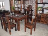 供应老船木个性茶桌组合船木茶台功夫茶几茶桌椅阳台实木小茶艺桌