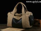 厂家加工韩版大水洗帆布包旅行包行男女式包休闲单肩斜挎手提包