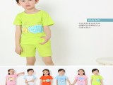 2018新款童装短袖 夏装 套装厂家自产自销7元