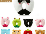 厂家批发 毛绒玩具可爱卡通动物U型枕 暖手捂 腰枕 价格优惠