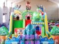 天蕊游乐厂家直销儿童蹦蹦床组合滑梯充气滑梯大型游乐设备