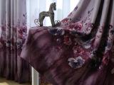 田园印花布料地中海乡村高档遮光卧室客厅窗纱窗帘面料特价可零剪