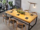 大型会议实木桌简约现代长桌桌椅组合工作台工业办公桌长条桌木桌