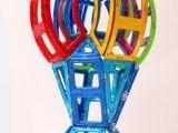 2015风靡全球正品磁力建构片188桶摩天轮磁力片玩具益智积木