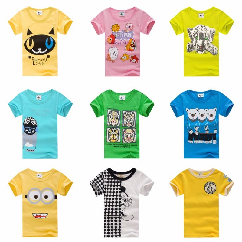 儿童纯棉短袖T恤 女童半袖衫