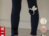 厂家直销 儿童新款打底裤女童气质淑女花朵打底裤 品牌外贸童裤