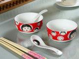 可爱卡通hello kitty碗勺陶瓷儿童餐具礼盒套装 促销礼品