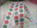 供应批发现货 头饰彩色印花罗纹带 节日礼盒包装带 双面丝带