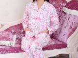 新春秋装全纯棉长袖卡通翻领女品牌睡衣厂家直销家居服批发套装