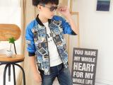 大童牛仔服 男童外套秋装夹克衫 拼皮潮流童装5到12岁一件代发