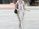 伙拼买100送5欧洲站品牌定位印花女装羽绒棉服短款套装女款两件套
