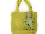 厂家直销定制手提小熊棉布袋 帆布袋子格子布环保袋批发