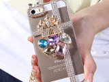 城堡爪链iphone5S手机壳  苹果4S保护套 狐狸头 d配饰