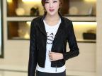 2015年春季韩版精品短款女式PU皮衣 女士机车服 外贸批发
