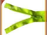 山东即墨好合拉链厂供应5号树脂荧光绿环保拉链