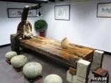 黄冈市老船木茶桌椅子仿古茶台实木沙发茶几餐桌办公桌家具博古架