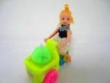 拉线美少女灯光三轮车玩具礼品