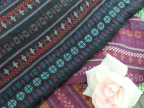 条纹色织提花面料 文艺复古服装布料 褶皱纯棉布料厂家批发1