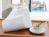纯棉酒店毛巾批发 优质酒店白毛巾加大加厚 支持来样定织定染