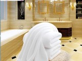 纯棉浴巾酒店宾馆专用白浴巾 美容院汗蒸房足疗毛巾浴巾
