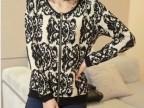 2014韩版新款针织女装开衫提花加厚秋冬款毛衣外套