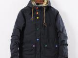2015春装新款外贸日系男士多口袋连帽夹克 水洗纯棉薄款修身外套