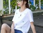 河北哪里有便宜韩版T恤批发宽松长款纯棉圆领T恤厂家低价批发